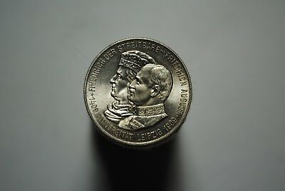1909 germany leipzig .900 silver uncirculated 2 marks l17