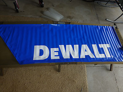 DeWALT Power Tool Advertising Display Banner Sears Sign Stores New Old Stock (A)