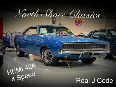 1968 Charger -R/T REAL HEMI J CODE VIN WITH 426/4SPD-RARE MUSCL 1968 Dodge Charger for sale!