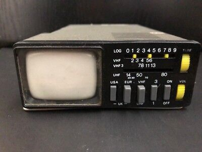 Vintage Sinclair Microvision MTV1 + CASE 1978 Technologically Historic  As Is