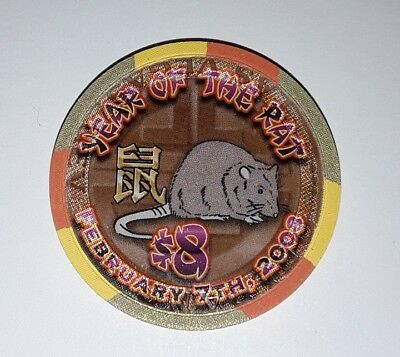 $8,00 Orleans Casino, Chip Jeton, Year of the Rat, Las Vegas, Nevada