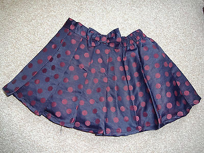 Mothercare Baby Girl toddler party skirt 18-24 month/2 year black dark red spot