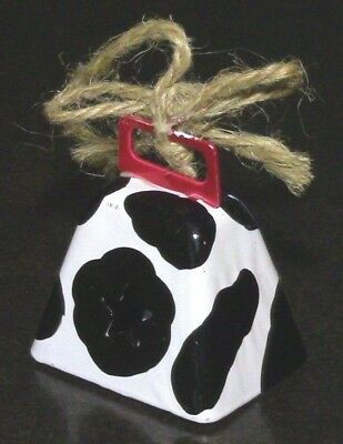 Star Cow B/W Black and White Hand Bell Collectible 70s-80s Metal