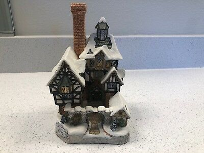 David Winter Cottages Christmas 1994 The Scrooge Family Home- Box, CoA
