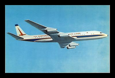 Dr Jim Stamps Us Eastern Airlines Dc 8 Airplane Chrome View Postcard