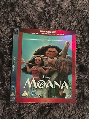 Rare Disney Blu Ray O Ring Slip Cover - Moana 3D