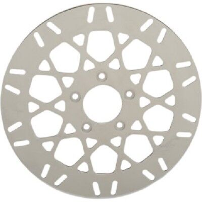 """Drag Specialties Front Brake Rotor Polished Stainless Steel 11.5"""" Mesh Harley"""
