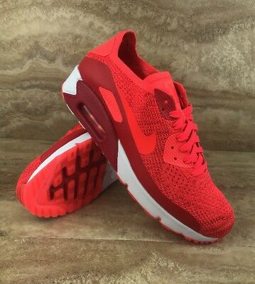 best loved 1213f 1214f NIKE AIR MAX 90 Ultra 2.0 Flyknit Men Running Shoes Bright Crimson Red White