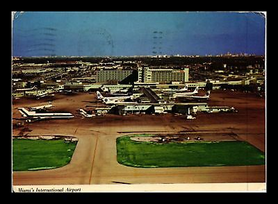 Dr Jim Stamps Us Miami International Airport Continental Size Postcard Ohio