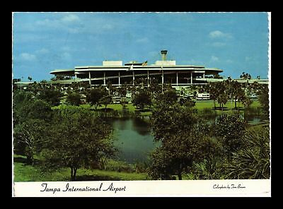 Dr Jim Stamps Us Tampa International Airport Continental Size Postcard 1977