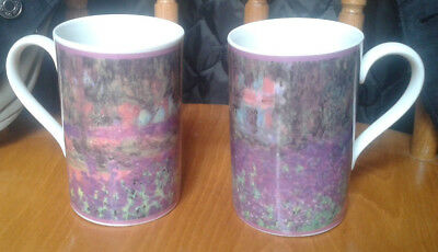 "Pair (2x) Dunoon Impressionists ""Giverny"" Claude Monet Stoneware Mug"