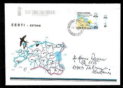 1993 Estonia cover featuring the 75th anniversary of Vergi Lighthouse
