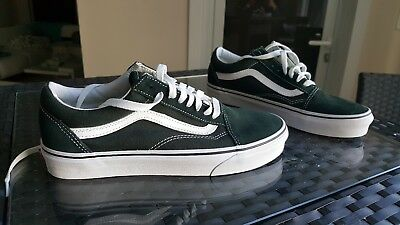 New Men and Women Vans Old Skool Green Skateboarding Shoes Classic Canvas Suede