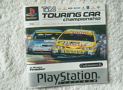 47579 Instruction Booklet - TOCA Touring Car Championship - Sony Playstation 1 (