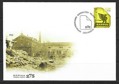 2009 Estonia FDC dated 14 May 2009 featuring 275th Anniversary of Rapina Mill
