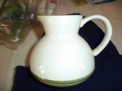 Jersey Pottery Milk Jug. White Green 1970-80? Channel Islands Collectable