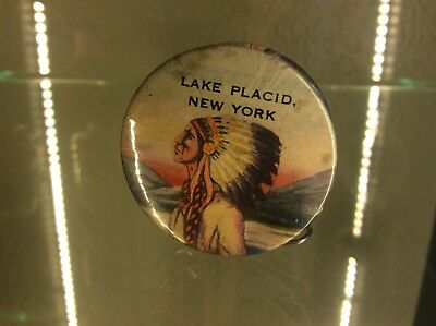 Vintage Native American advertising celluloid tape measure new york indian