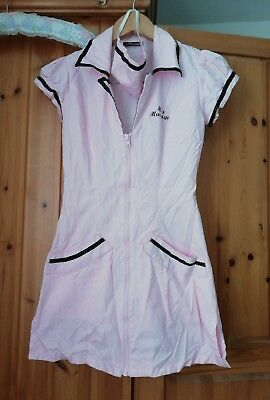 miss massage ann summers womens costume small UK 8 pink and black 100% cotton