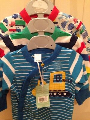 Boots Mini Club 3 Pack Boys Play suits  Bright and Fun Super Soft . Small Baby