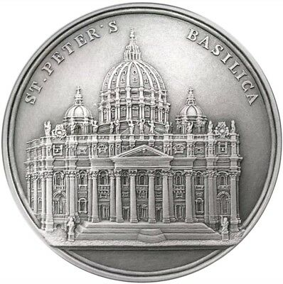 2017 100g Silver Benin 1500 Francs INFINITY MINTING ST. PETER'S BASILICA Coin.