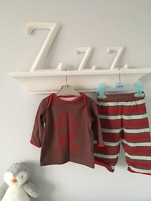NEW. M&S Baby Boy Penguin Pattern Outfit 3-6 months