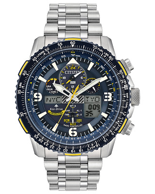 Citizen Blue Angles Skyhawk Eco Drive Blue Dial Stainless Steel Watch JY8078-52L