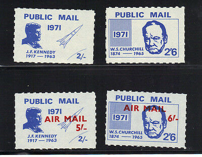 Great Britain GB UK 1971 Postal Strike Stamps Public Mail Kennedy Churchill MNH