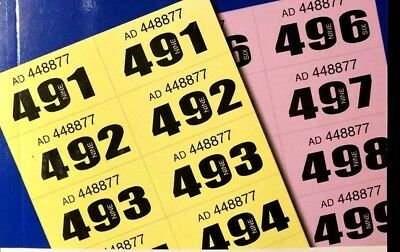 raffle tickets book cloakroom tombola draw security coded numbered 1 500 1 1000