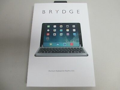 """Brydge BRY8002 Bluetooth Aluminum Keyboard Space Gray For 10.5"""" iPad Pro"""