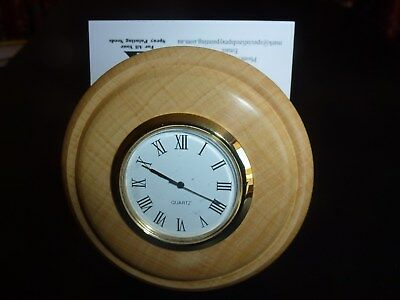 "New !  ""DESK MATE""  includes Clock  & 50 year calendar, set in wooden Huon Pine."