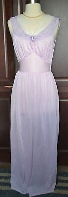 Vintage 60's Orchid Purple Nightgown By Phil-Maid Size 36