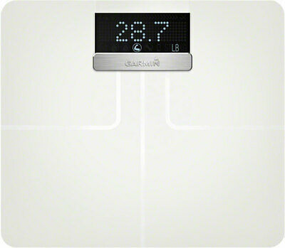 NEW Garmin Index Smart Scale White Wi-Fi Bluetooth BMI & Muscle Mass Tracking