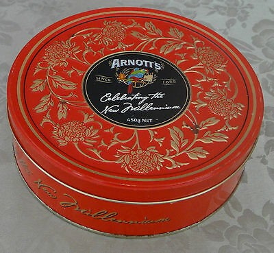 Collectable Arnott's Biscuit Tin *Celebrating the New Millennium *Rosella