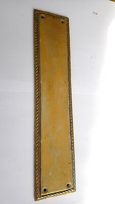 Vintage Brass Rope Door Finger Plates