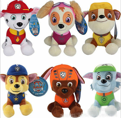 "20CM 8"" PAW PATROL COMPLETE SET of Cute Dogs plush Doll Dog Toy Chase Zuma Skye"