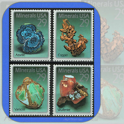 1992  MINERALS  Copper Azurite  Complete  Set of 4  MINT 29¢ Stamps  #2700-2703