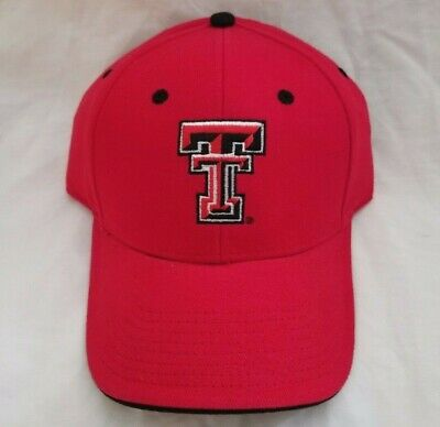 reputable site e14dc 3de4e Red NCAA Texas Tech Red Raiders Embroidered Hat Adjustable Strap Cap