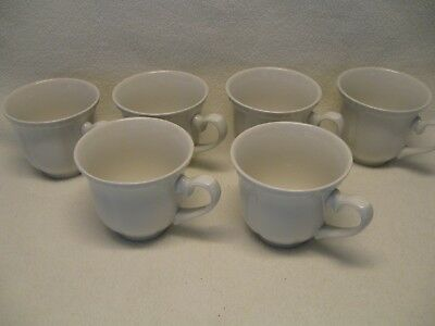 "Johnson Brothers (6) 3"" Flat Cups Old English White in Excellent Condition"