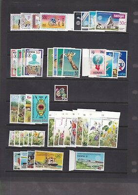 MOC8)  Kenya, 1963 – 84 mostly mint unhinged collection on 21 as new Hagners