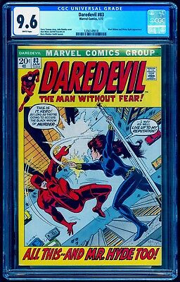 Daredevil 83 Cgc 9.6 White Pages ** Classic Black Widow Cover ** Nm+