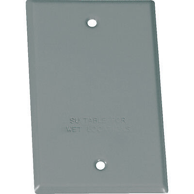 NEW Sigma Electric 14240 Outlet Cover Box Gray Blank Cover All-Weather w/Gasket