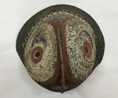 Exceptional fine PNG Ceremonial ABELAM YAM MASK Circa 1970's Woven Cane