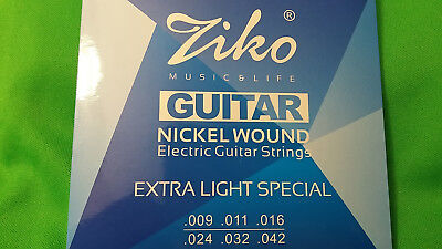 Electric Guitar ZIKO DN-009 Nickel Wound Extra Light Special .009 - .042  HQ