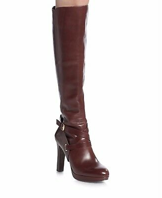 39a9963a4 New VC Vince Camuto Signature Fabina Tall Baysenberry Leather Boots 6 $450  New