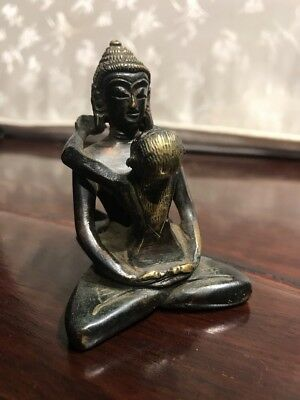 Estate Old Chinese Antique Ming Bronze Sexy Buddha Qing Asian China