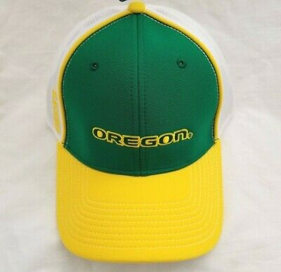 8a4fc2aeb15 NCAA Green   Yellow Oregon Ducks Embroidered Hat Adjustable Strap Mesh Back  Cap