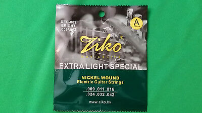 Electric Guitar ZIKO DEG-009 Nickel Wound Extra Light Special .009 - .042  HQ