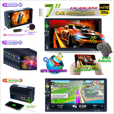 2 Din Car Gps Bluetooth Mp5 RDS Radio With Mirror Link For Andriod/IOS+Free Map