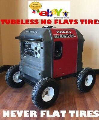 Wheel Kit for Honda Generator EU3000is - SOLID NEVER FLAT TIRES - All Terrain!!