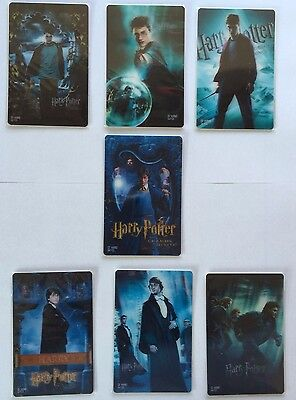 Harry Potter 3D Collectors Cards (LAST COMPLETE SET) - RARE - From Japan